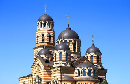 ortodox: Five-domed ortodox temple built in the Byzantine style