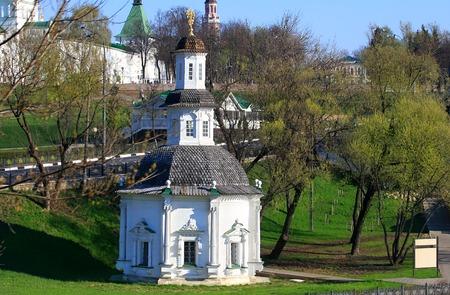 seventeenth: White stone Orthodox chapel of the seventeenth century near ancient monastery