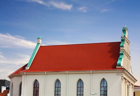 minsk: Gable of the medieval structure in the style of the Northern Renaissance