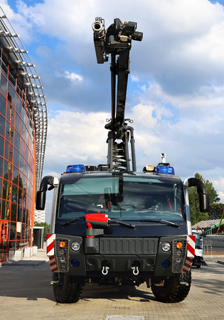 Emergency vehicle based on car chassis equipped with fire and other technical equipment