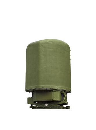 new generation: Antenna of a new generation on white background. Designed to detect, recognition, positioning  of aircraft and to hold them