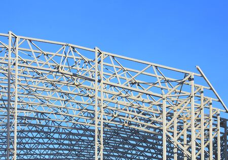 Skeleton of industrial building during construction