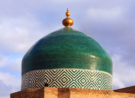 Dome of a central asian mosque on the bacground of sky Stock Photo