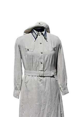Women's railway uniform of the thirties of the twentieth century Stock Photo