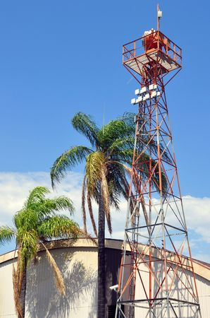 Older airport beacon tower