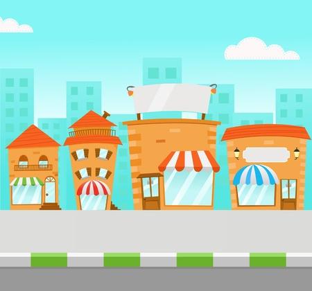 Ilustracja Strip Mall