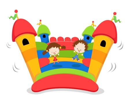 brincolin: Ni�os jugando en Bouncy Castle