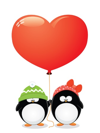 Penguin Love Stock Vector - 10042380