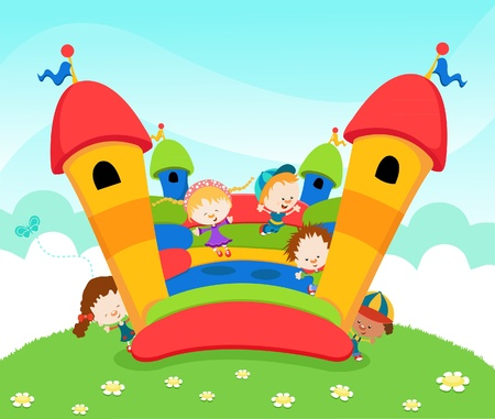 Jumping Castle Stock Vector - 10042367