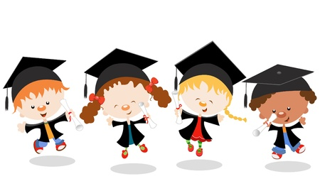 successful student: Happy Kids graduata
