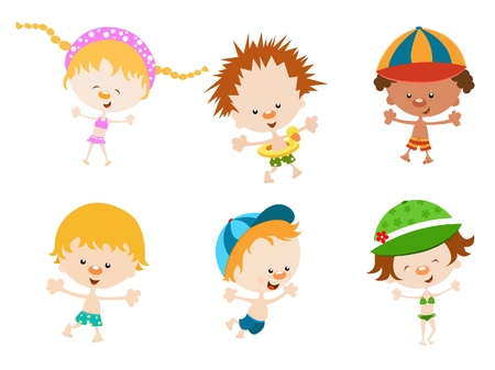 Cute Kids Summer Pack Vector