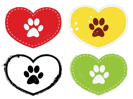 dog paws: Paw Print Icons