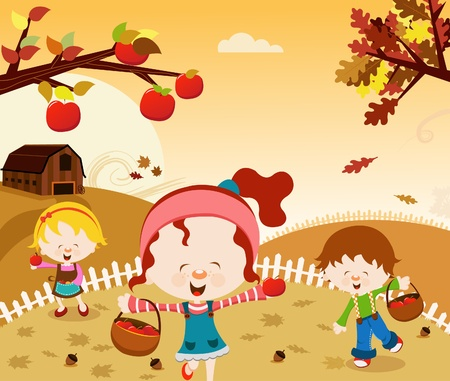 Happy Harvest Stock Vector - 10640288