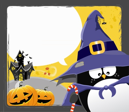 Halloween Penguin Vector