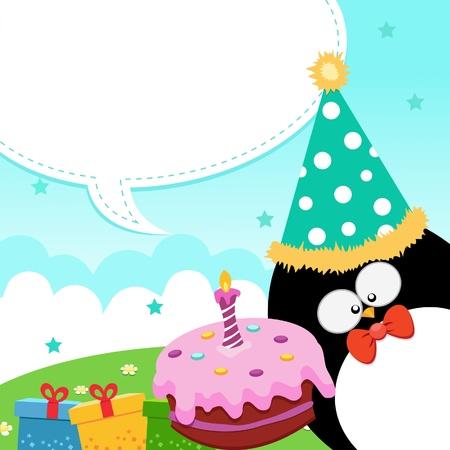 velitas de cumpleaños: Mensaje de cumpleaños Vectores