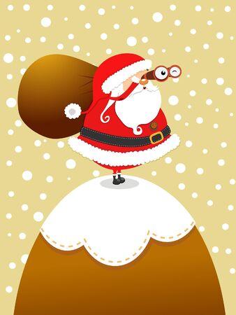 kijker: Kerstman Op De Berg