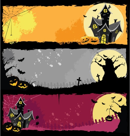 ghost house: Halloween Banners