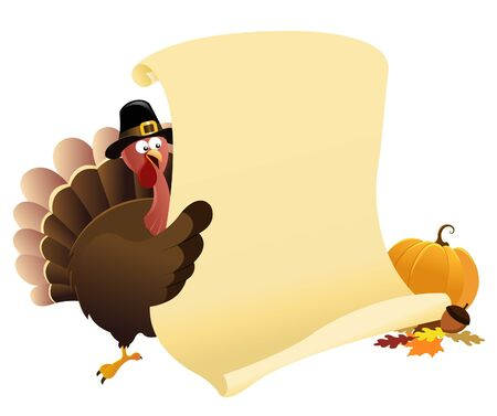 thanksgiving turkey: Thanksgiving Message Illustration