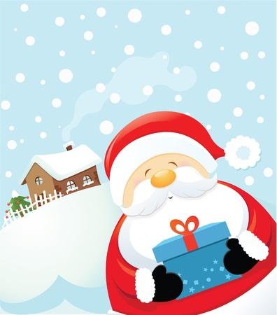 casale: Sorpresa di Babbo Natale Vettoriali