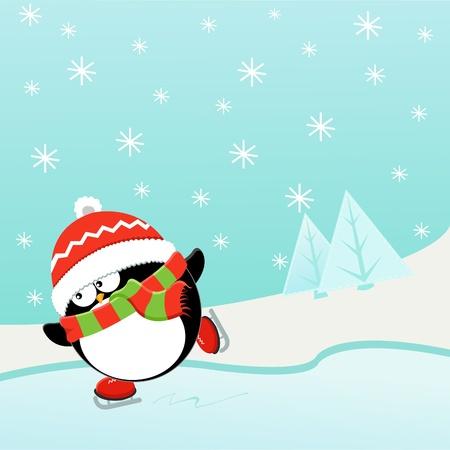 penguin: Ice Skating Penguin