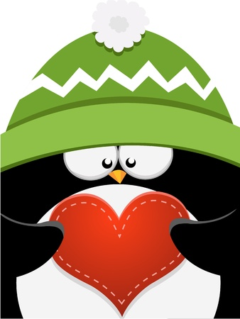Big Penguin Love Stock Vector - 11621978