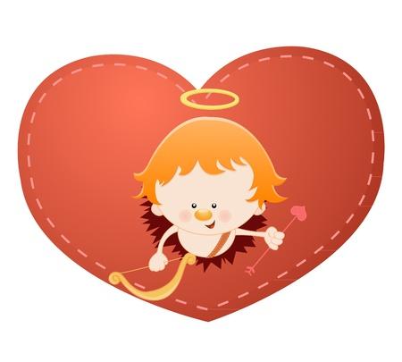 Cupid Through Heart Vector