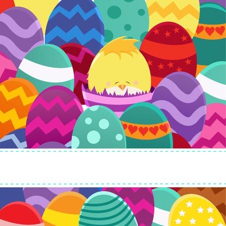 joyeuses p�ques: Carte de P�ques heureuse Illustration