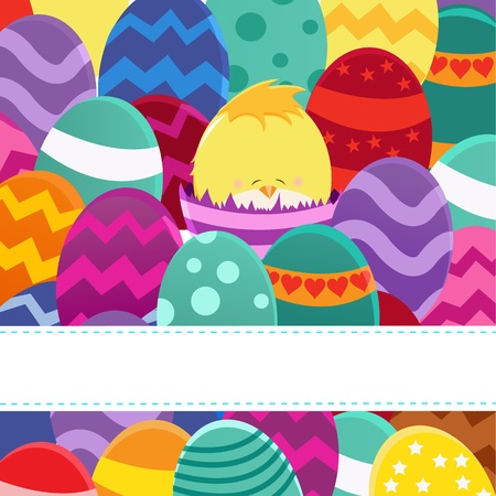 Happy Easter Card Ilustrace