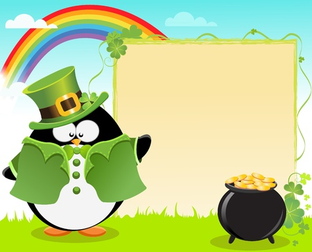 St Patrick's Day Penguin
