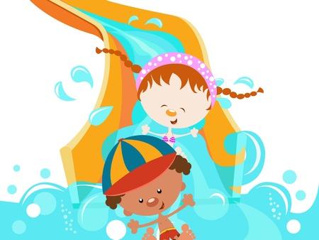 子供の水スライド