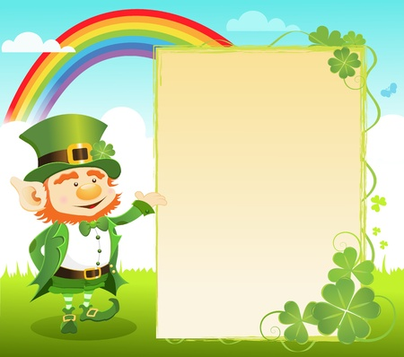 St Patrick Day Message Vector
