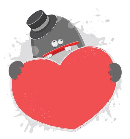 Monster With Love Stock Vector - 11621982