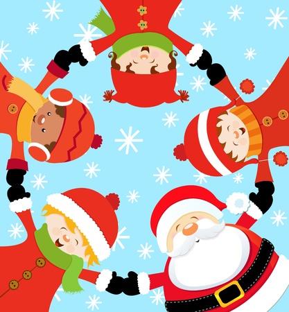 クリスマス パーティー  イラスト・ベクター素材