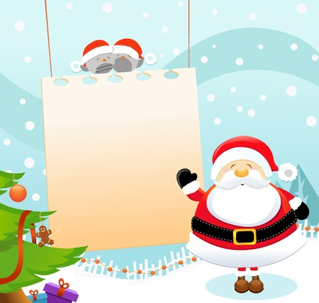 Santa Message Stock Vector - 11602231