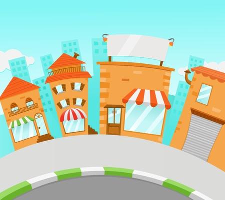Winkelstraat Stock Illustratie