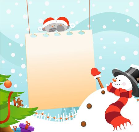 Snowman Message Vector