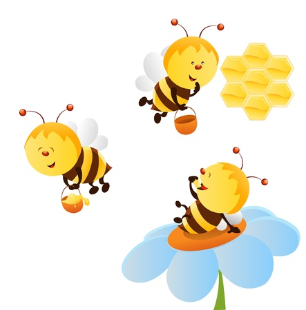 Bee Set Stock Vector - 12498069
