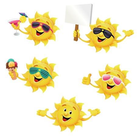 Sun Character Set Stock Vector - 12834035