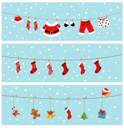 clothing rack: Christmas Banners