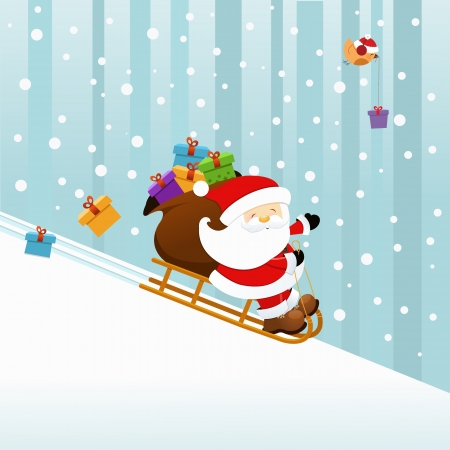 Santa On Sledge Stock Vector - 16503337