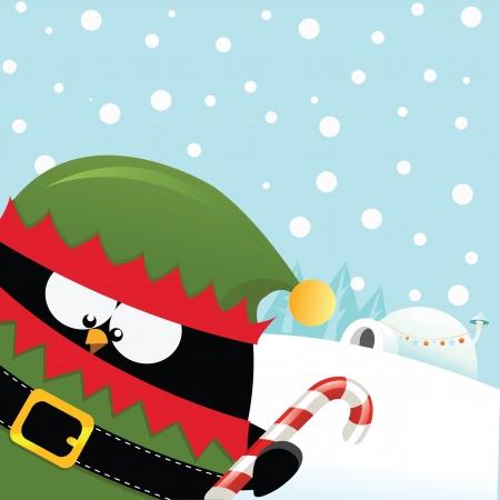 pinguinos navidenos: Elf pingüino