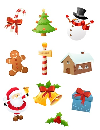Christmas Icons Stock Vector - 16503334