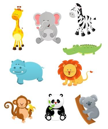 hippopotamus: Animales de Safari Vectores