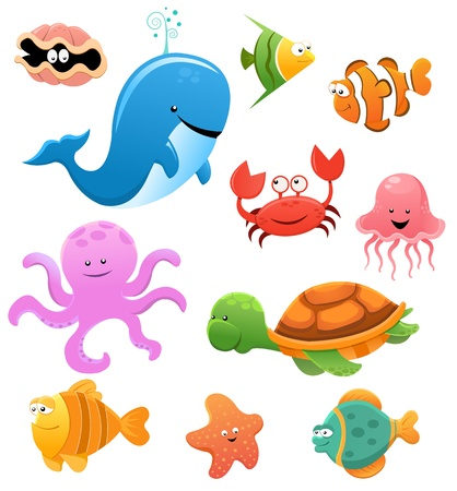 Zwierz?ta morskie Ilustracje wektorowe