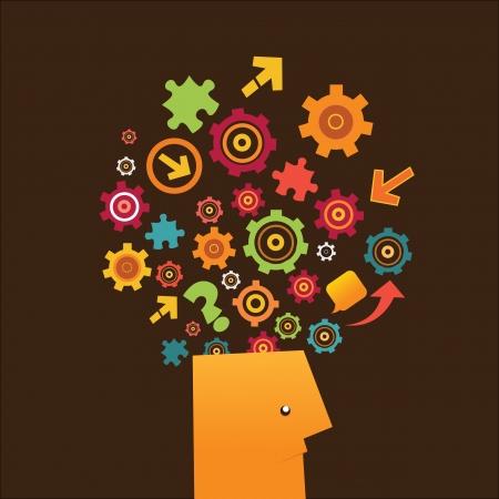 Thinking Man Stock Vector - 19750727