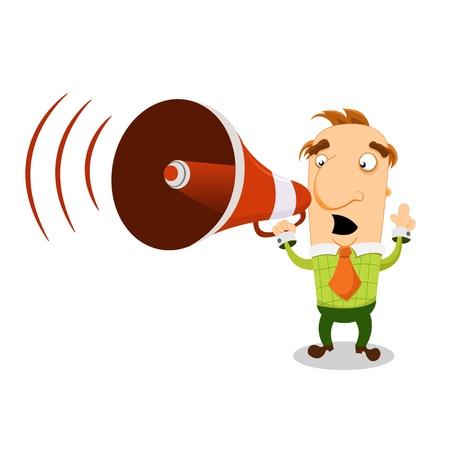 loudhailer: Man With Megaphone