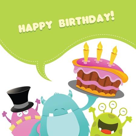 Verjaardag Monsters Card