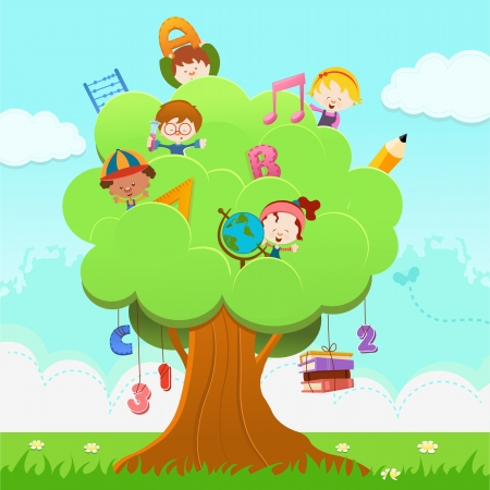 Learning Tree Stock Vector - 22899391