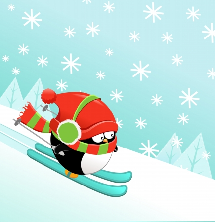 muff: Skiing Penguin