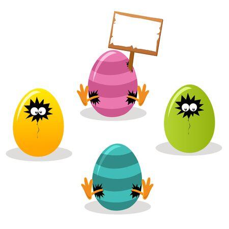 eye hole: Easter Eggs